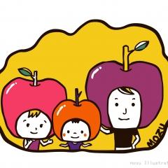 りんごおやこ